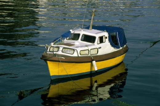 Boat in the sea, Alesund, Norway : Stock Photo