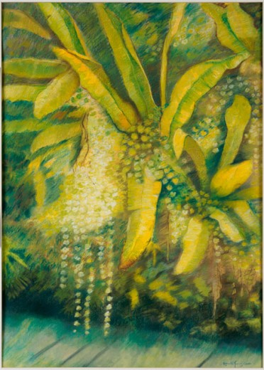 Stock Photo: 838-212 Bananas by the River 1995 Hyacinth Manning (b.1954/American) Private Collection