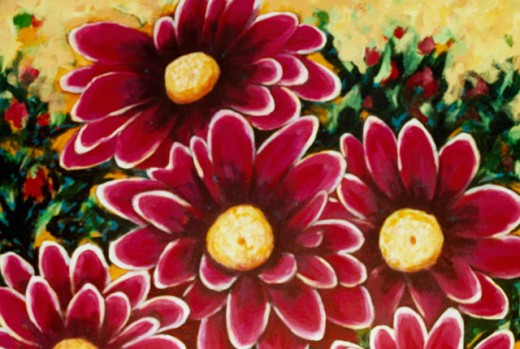 Stock Photo: 838-269 Kathy's Flowers 2004 Hyacinth Manning (b.1954 African-American) Acrylic on Canvas