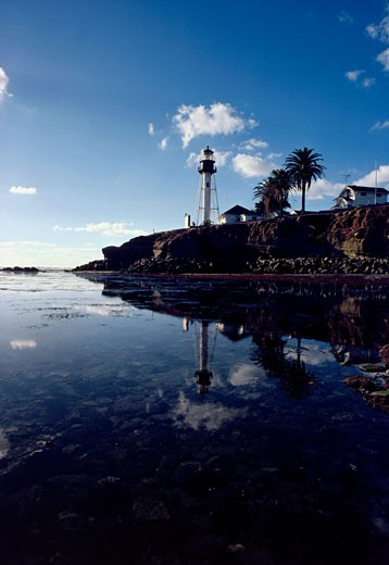 Stock Photo: 84-2878 Point Loma Lighthouse