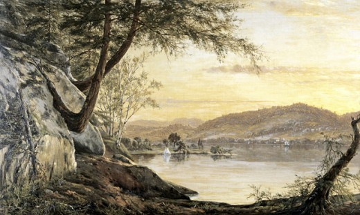 Stock Photo: 849-10016 Sunset on the Lake