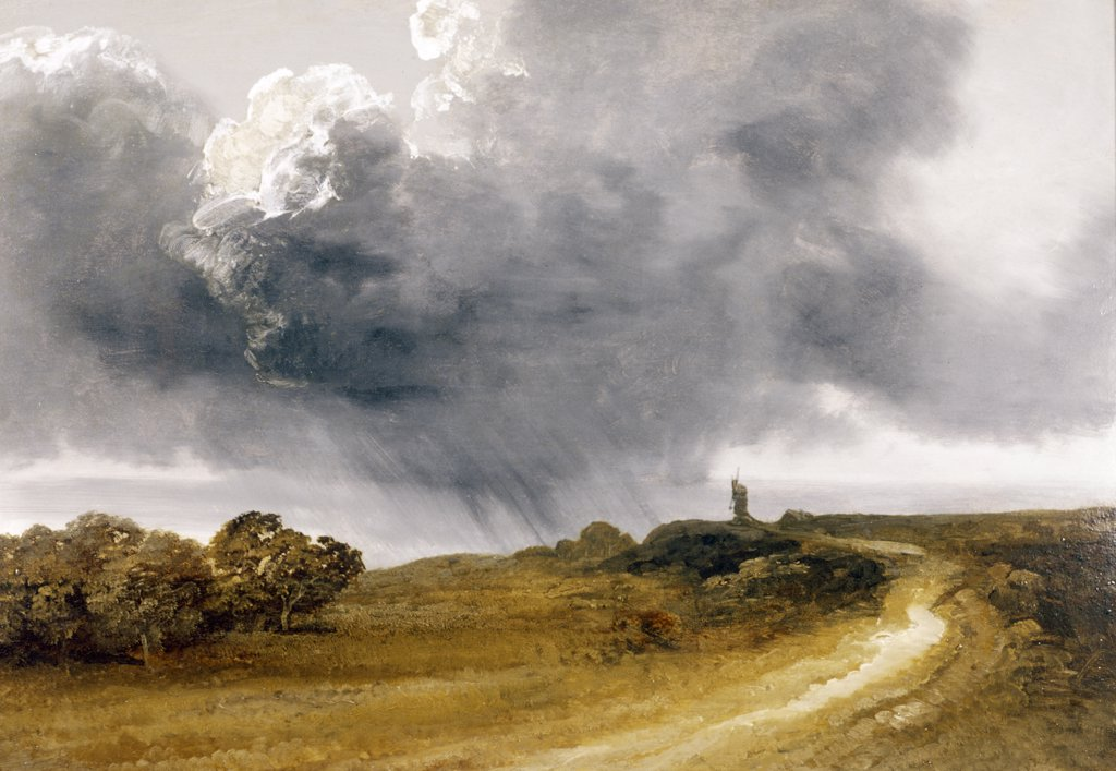 Approaching Storm by Georges Michel,  oil on canvas,  (1763-1843),  USA,  Pennsylvania,  Philadelphia,  David David Gallery : Stock Photo