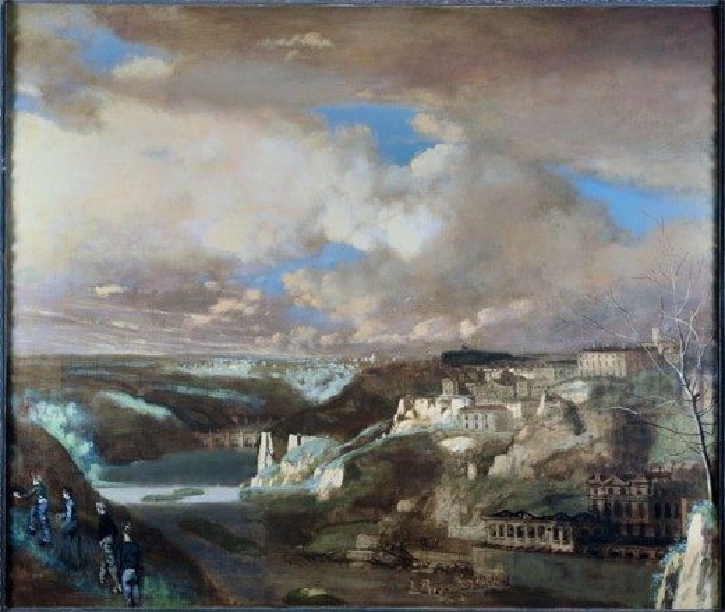 Stock Photo: 849-10076 Along the Schuylkill by Walter Stuempfig, oil on canvas, 1914-1970, USA, Pennsylvania, Philadelphia, David David Gallery