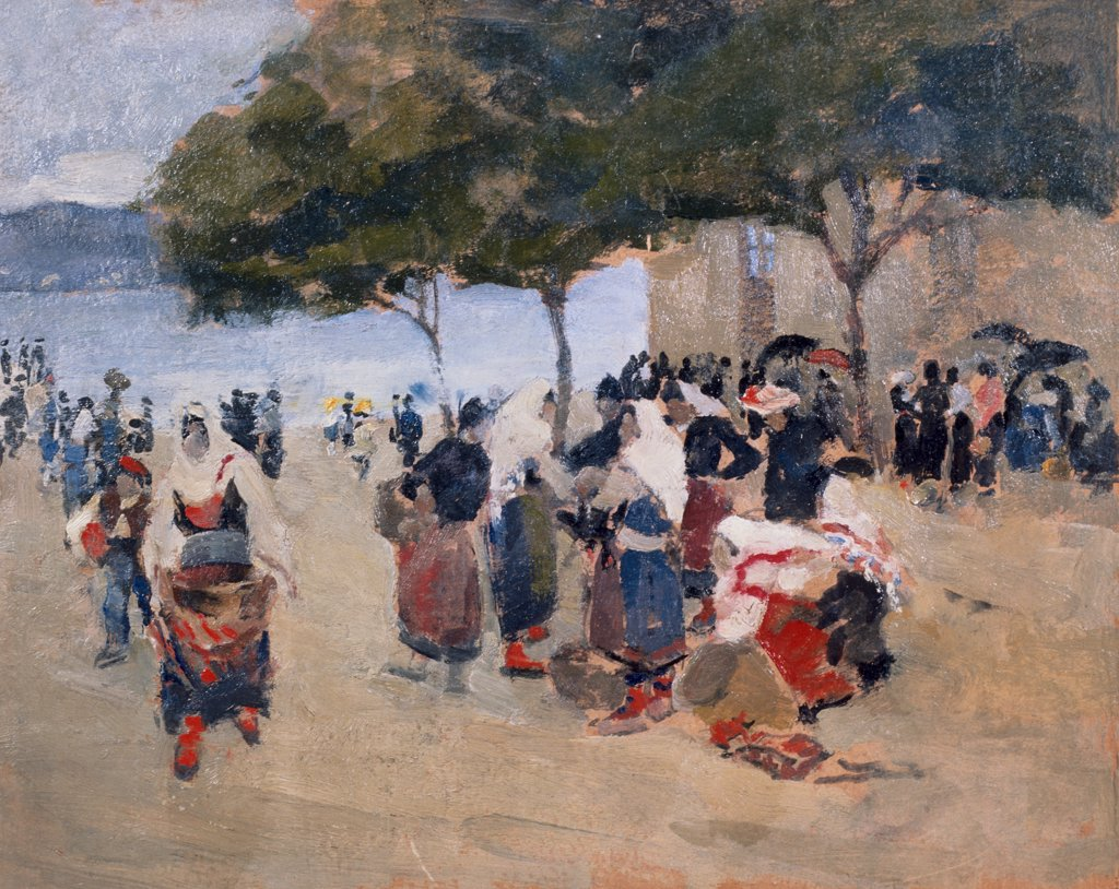 Stock Photo: 849-10092 Dalmatian Coast (Zara) by Martha Walter, oil on board, 1910, 1875-1976, USA, Pennsylvania, Philadelphia, David David Gallery