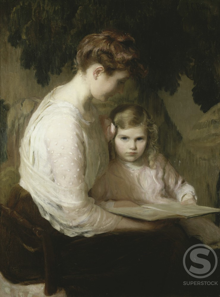 Stock Photo: 849-10130 Mother and Child Reading