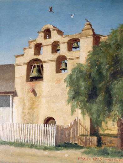Stock Photo: 849-10418 San Gabriel Mission Bell Tower