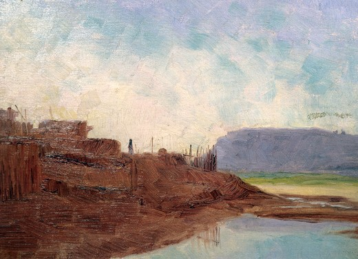Stock Photo: 849-10429 Water Hole Zuni Village Frank Reed Whiteside (1866-1929 American)