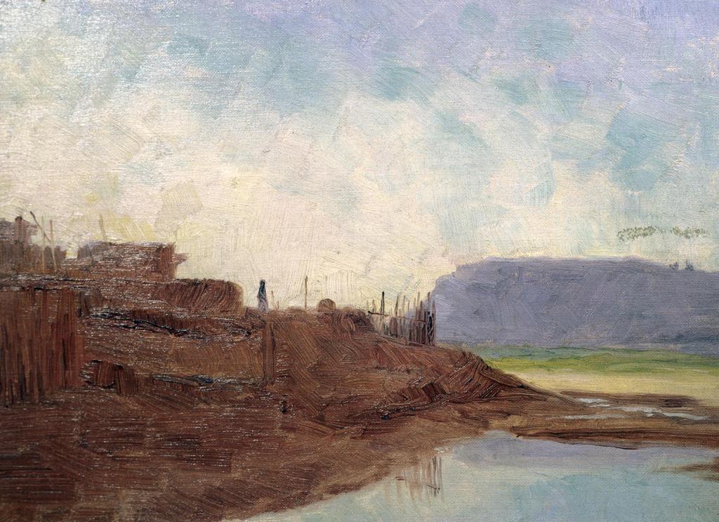 Water Hole Zuni Village Frank Reed Whiteside (1866-1929 American) David David Gallery, Philadelphia  : Stock Photo