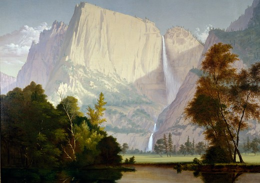 Yosemite,  artist unknown,  oil on canvas,  (19th C),  USA,  Pennsylvania,  Philadelphia,  David David Gallery : Stock Photo
