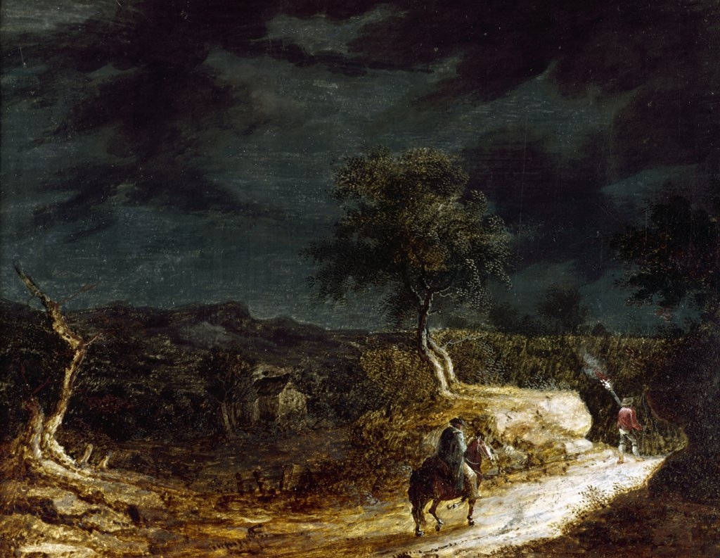 Stock Photo: 849-10467 Approaching Storm,  artist unknown,  oil painting,  19thcentury,  USA,  Pennsylvania,  Philadelphia,  David David Gallery
