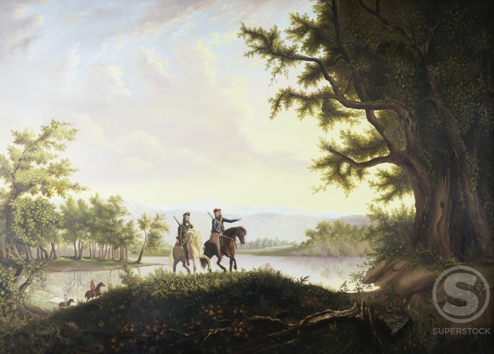 Lewis and Clark Expedition Thomas Mickell Burnham (1818-1866 American) David David Gallery Philadelphia : Stock Photo