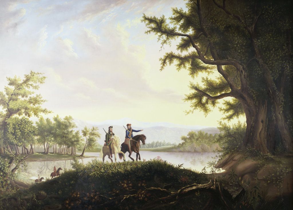 Stock Photo: 849-10472 Lewis and Clark Expedition Thomas Mickell Burnham (1818-1866 American) David David Gallery Philadelphia