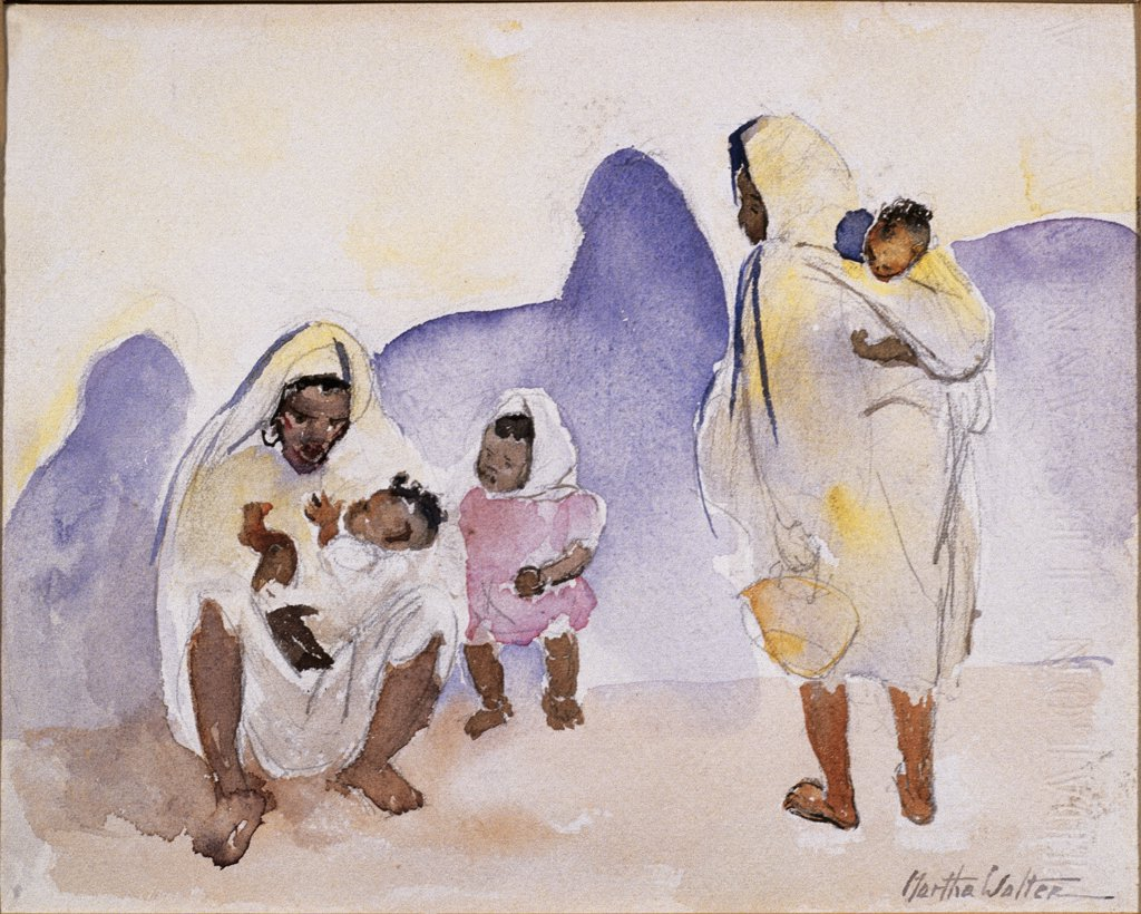 Stock Photo: 849-10620 Late Afternoon, Tangiers by Martha Walter, watercolor, 1940, 1875-1976, USA, Pennsylvania, Philadelphia, David David Gallery