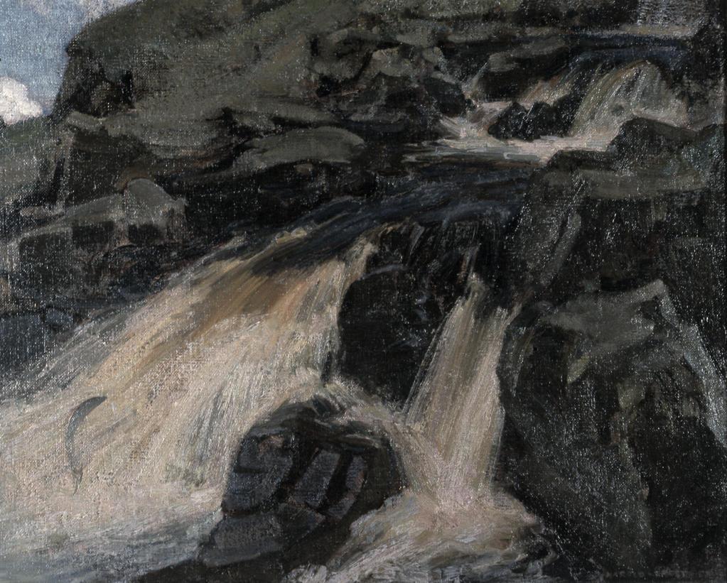 The Salmon Stream by Harold Speed,  oil on canvas,  (1872-1957),  USA,  Pennsylvania,  Philadelphia,  David David Gallery : Stock Photo