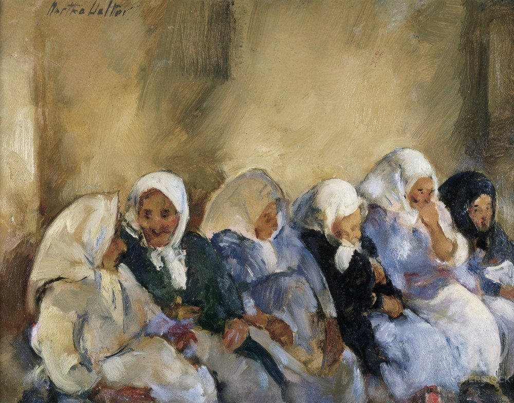 Stock Photo: 849-10748 Jewish Home For The Aged II by Martha Walter, oil on canvas, 1875-1976, USA, Pennsylvania, Philadelphia, David David Gallery