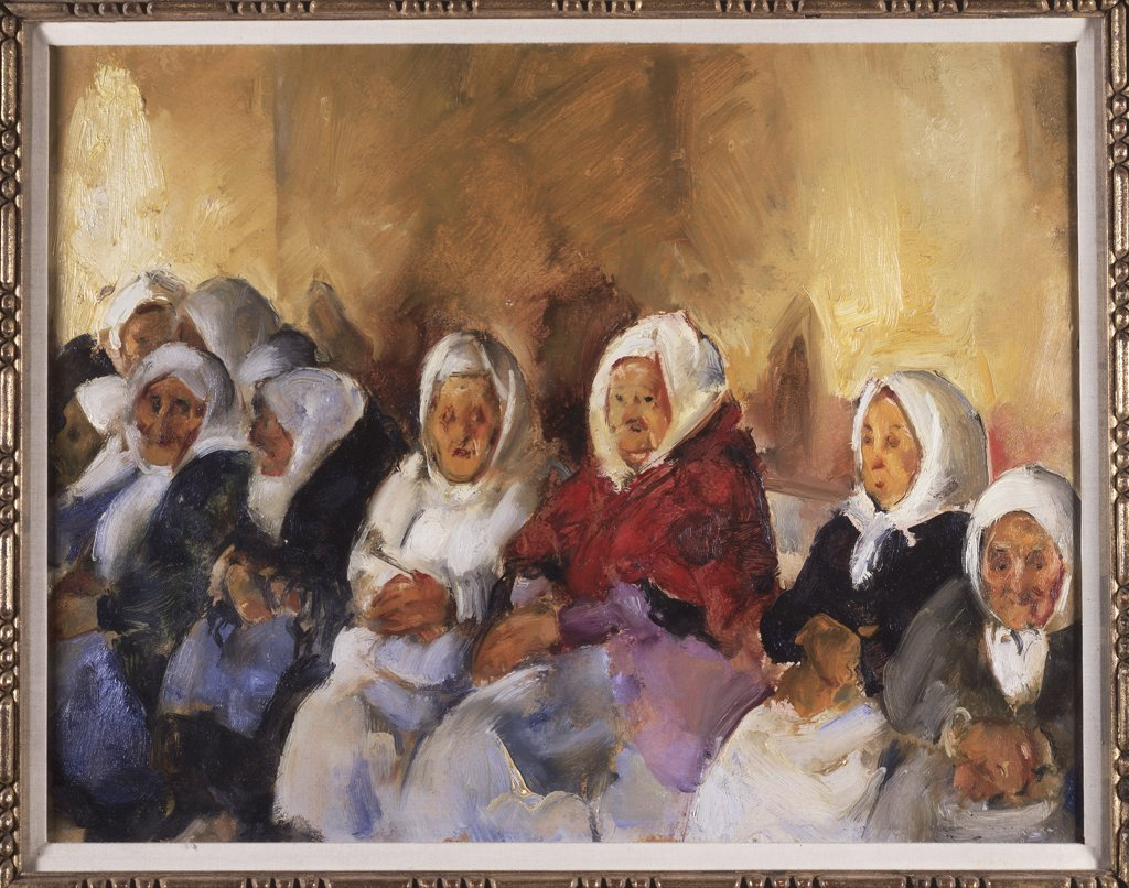 Stock Photo: 849-10750 Jewish Home for the Aged IV by Martha Walter, oil on canvas, 1875-1976, USA, Pennsylvania, Philadelphia, David David Gallery