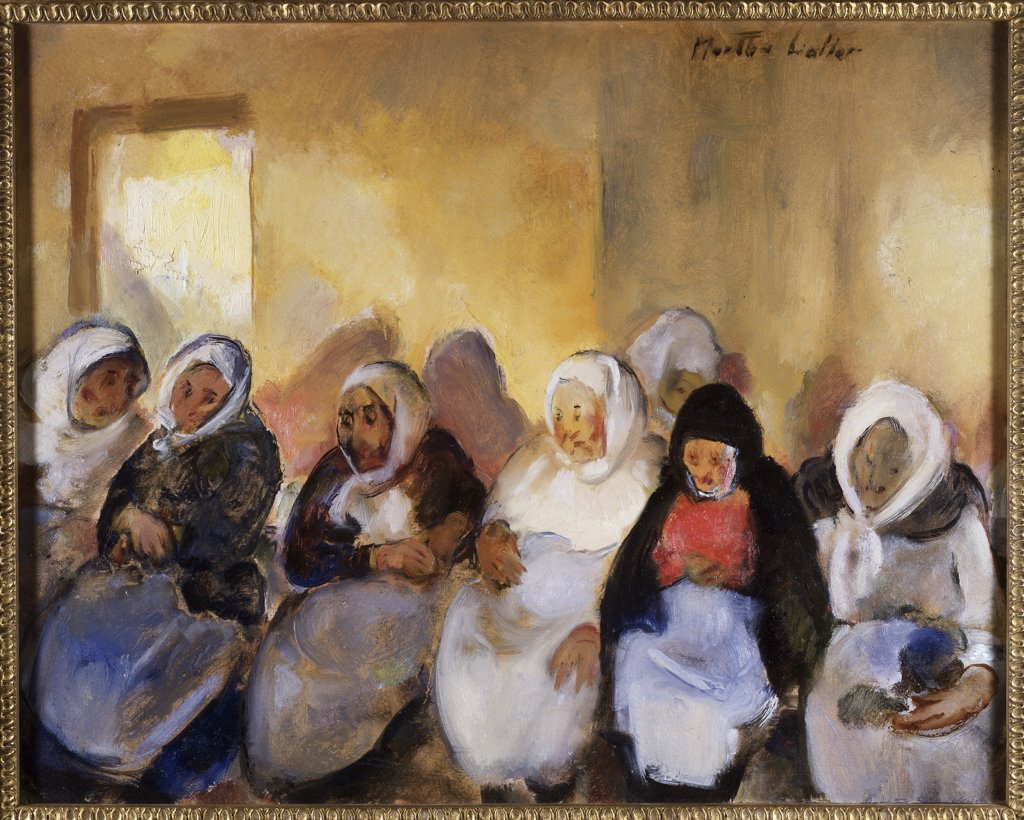 Stock Photo: 849-10752 Jewish Home for the Aged VI by Martha Walter, oil on canvas, 1875-1976, USA, Pennsylvania, Philadelphia, David David Gallery