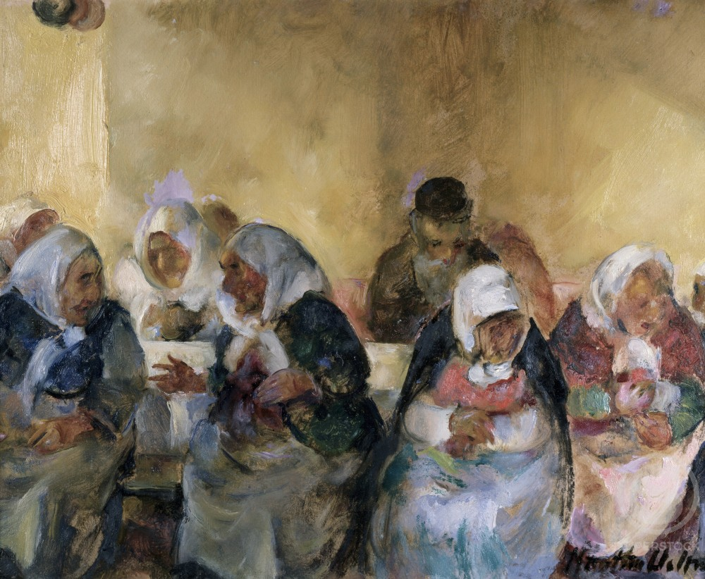 Stock Photo: 849-10754 Jewish Home For The Aged VIII by Martha Walter, oil on canvas, 1875-1976, USA, Pennsylvania, Philadelphia, David David Gallery
