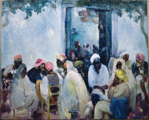 Stock Photo: 849-10786 Africa by Martha Walter, oil on wood panel, 1875-1976, USA, Pennsylvania, Philadelphia, David David Gallery