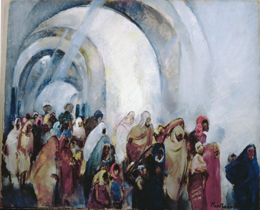 Stock Photo: 849-10792 Coming Through the Souks by Martha Walter, oil on wood panel, 1875-1976, USA, Pennsylvania, Philadelphia, David David Gallery