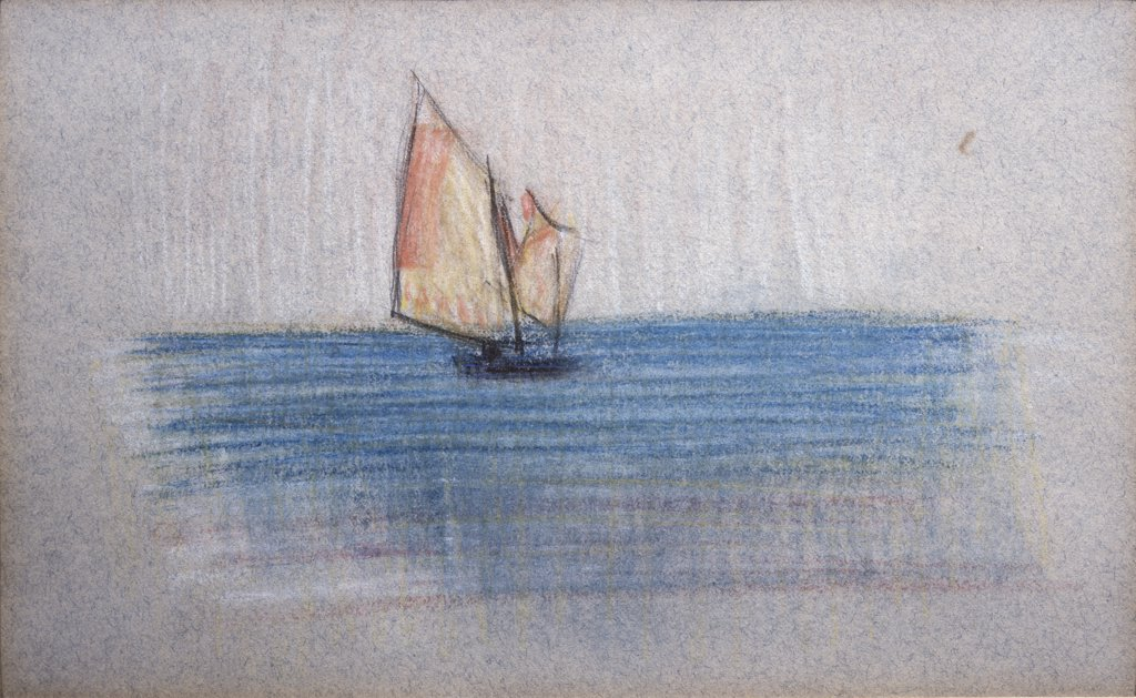 Stock Photo: 849-10817 Sailboat by Arthur Beecher Carles, pastel drawing, 1882-1952, USA, Pennsylvania, Philadelphia, David David Gallery