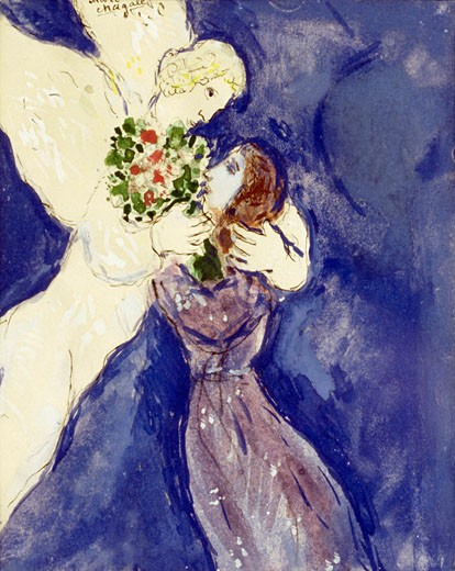 Stock Photo: 849-10829 La Femme by Marc Chagall, watercolor and gouache, 1887-1985, USA, Pennsylvania, Philadelphia, David David Gallery