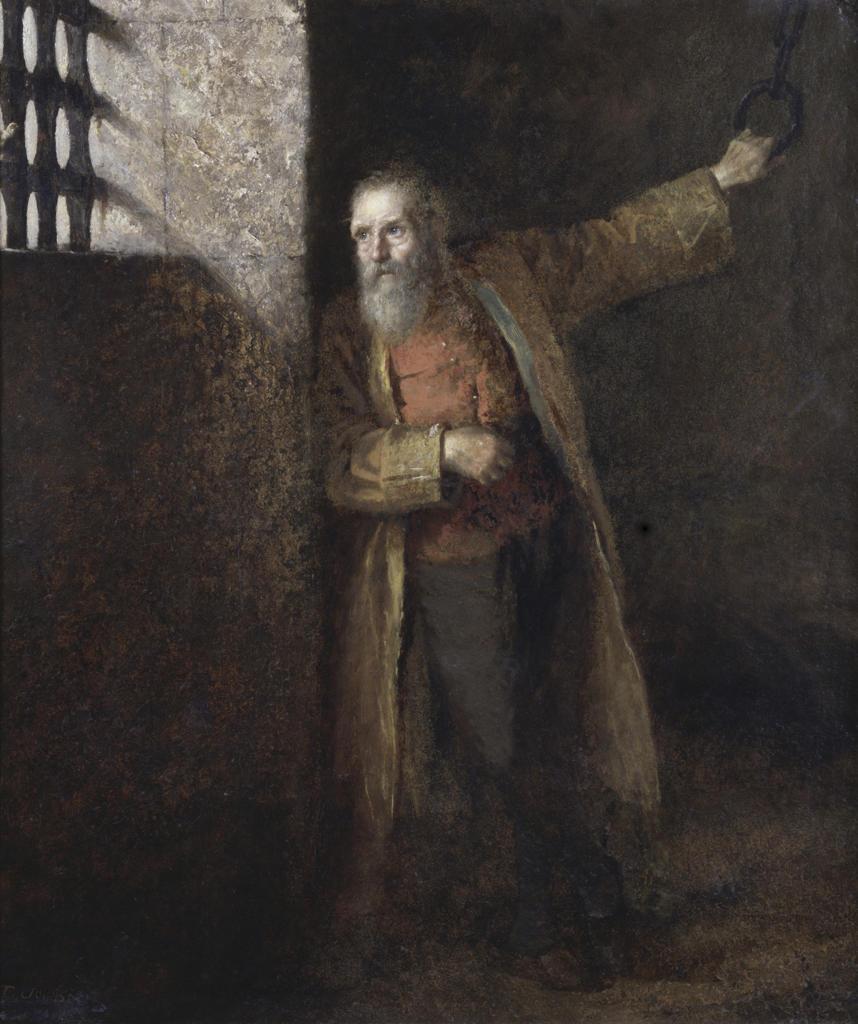 Prisoner of the State Eastman Johnson (1824-1906/American) David David Gallery, Philadelphia, Pennsylvania, USA : Stock Photo