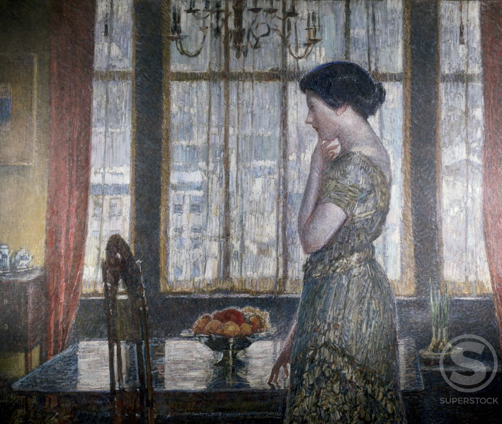 Stock Photo: 849-10904 New York Winter Window 