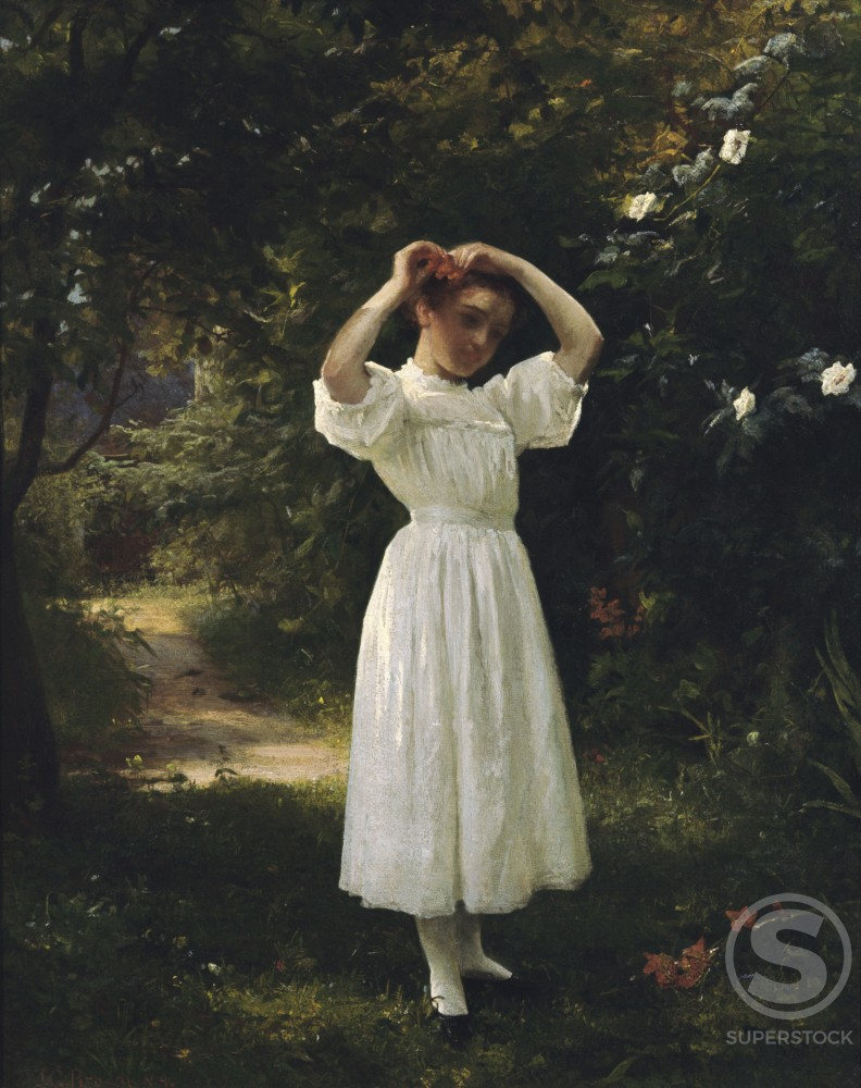 Stock Photo: 849-10917 The Flower Girl