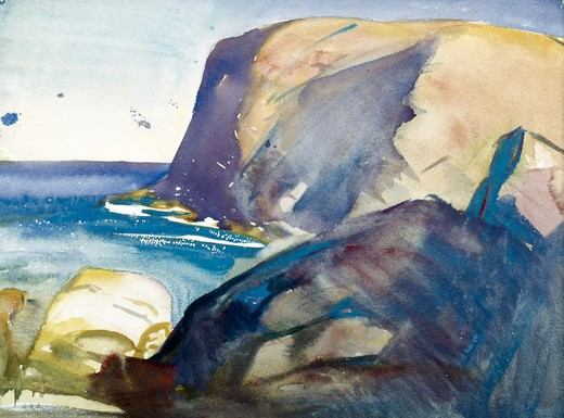 Stock Photo: 849-10989 Cliffline by Alice Kent Stoddard (1884-1976 ), watercolor, USA, Pennsylvania, Philadelphia, David David Gallery