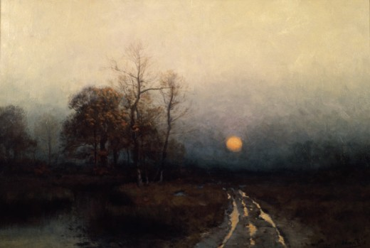 Stock Photo: 849-11174 River Sunset