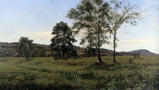 Stock Photo: 849-11257 Connecticut Landscape by Horace Wolcott Robbins, oil on canvas, circa 1900, (1842-1904), USA, Pennsylvania, Philadelphia, David David Gallery