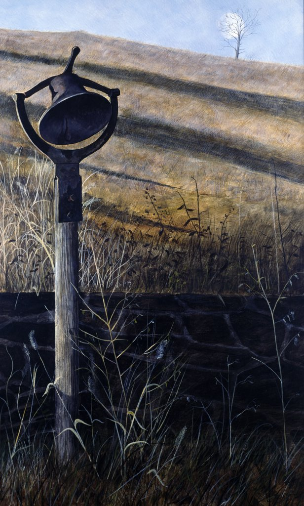 Stock Photo: 849-11461 Farm Sound by Karl J. III Kuerner,  acrylic on panel,  (b.1957),  USA,  Pennsylvania,  Philadelphia,  David David Gallery,  1987