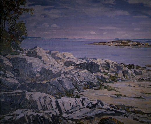 Stock Photo: 849-11713 Deer Point,  Maine by Walter Elmer Schofield,  (1867-1944),  USA,  Philadelphia,  Pennsylvania,  David David Gallery