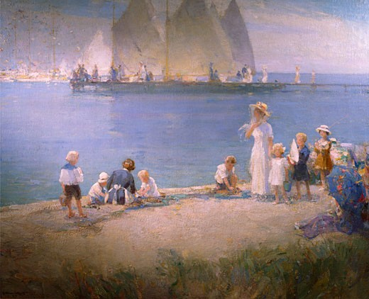 Regatta Day by Walter Granville Smith,  (1870-1938),  USA,  Philadelphia,  Pennsylvania,  David David Gallery : Stock Photo