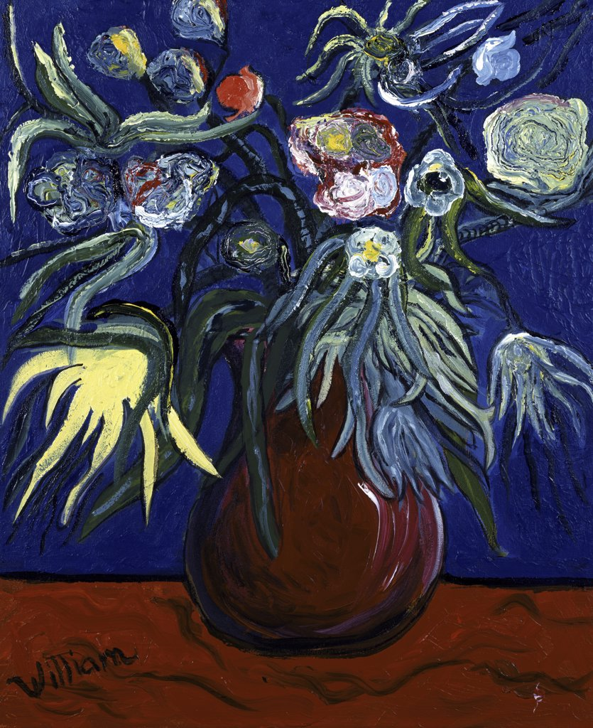 Stock Photo: 860-601 Flowers by Moonlight