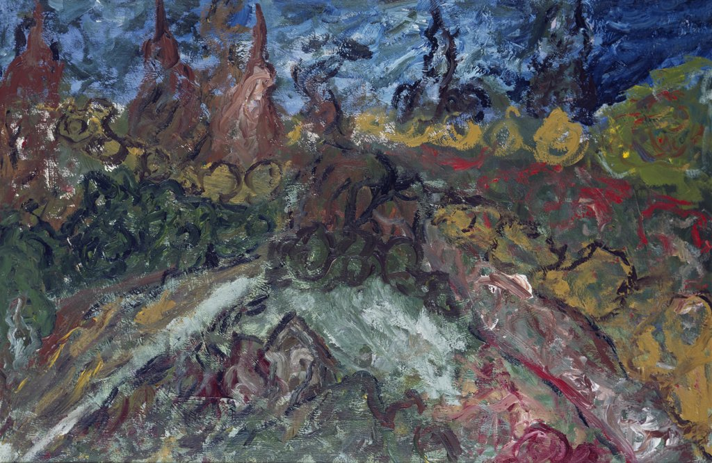 Seven O'Clock Garden by William W. Huggin, acrylic on canvas, 1995, Born 1966, Private Collection : Stock Photo