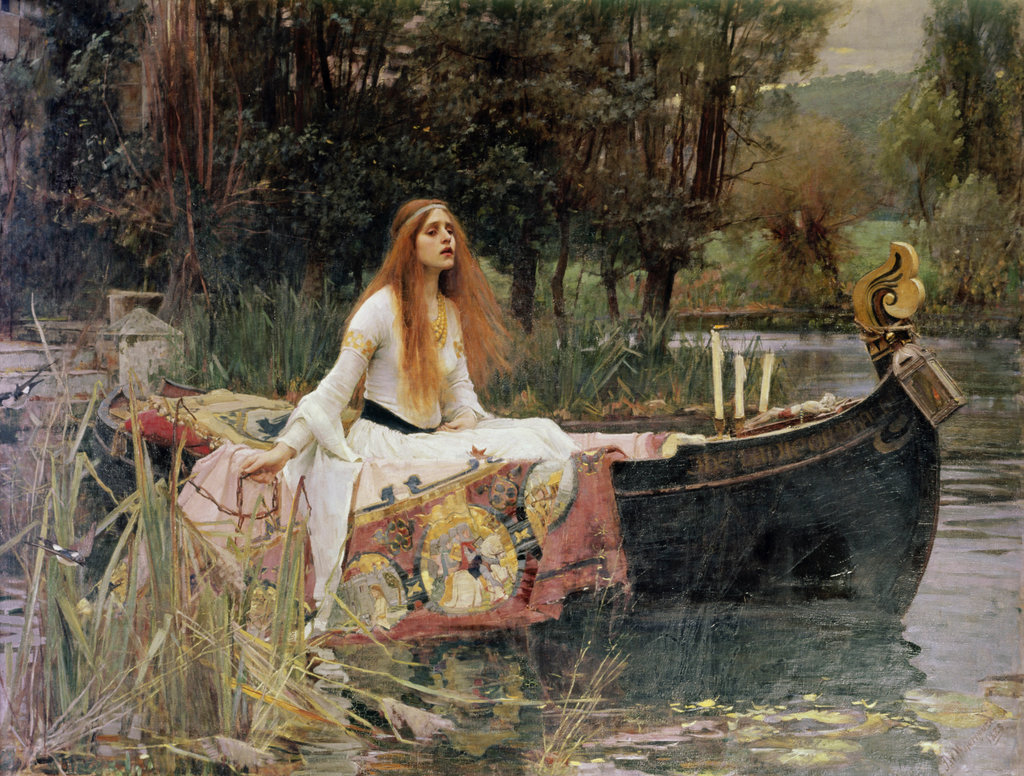 Stock Photo: 862-1001 The Lady of Shalott