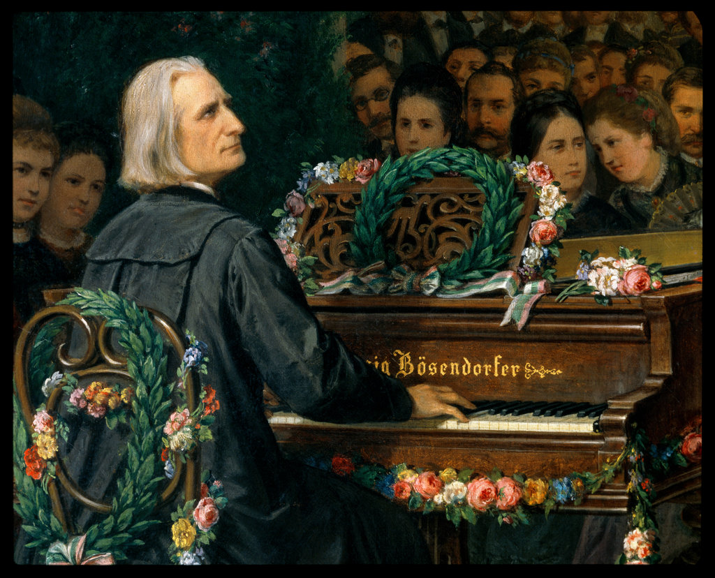 Stock Photo: 862-1006 Franz Liszt at the Piano