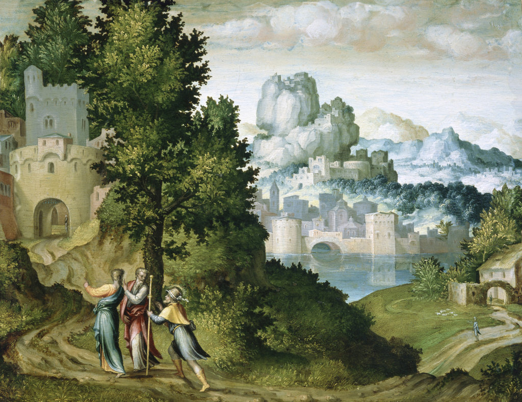 Stock Photo: 862-1011 The Journey to Emmaus