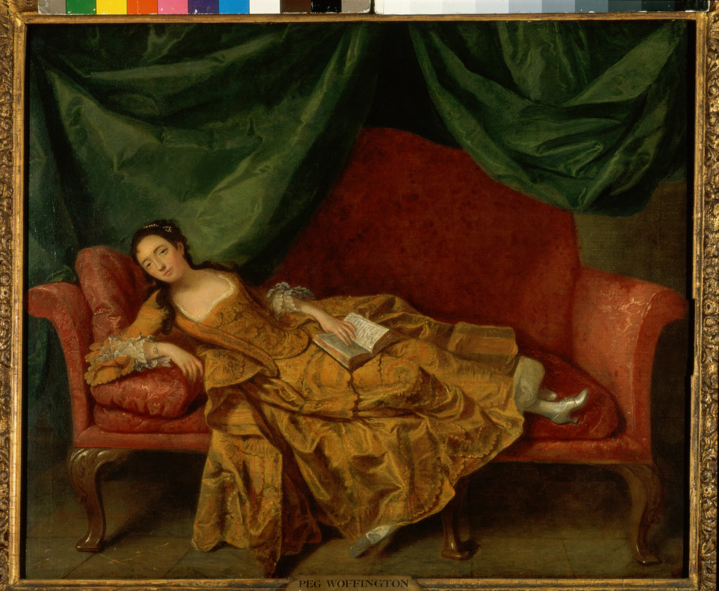 Stock Photo: 862-1023 Peg Woffington  Artist Unknown  Oil on Canvas  Garrick Club, London