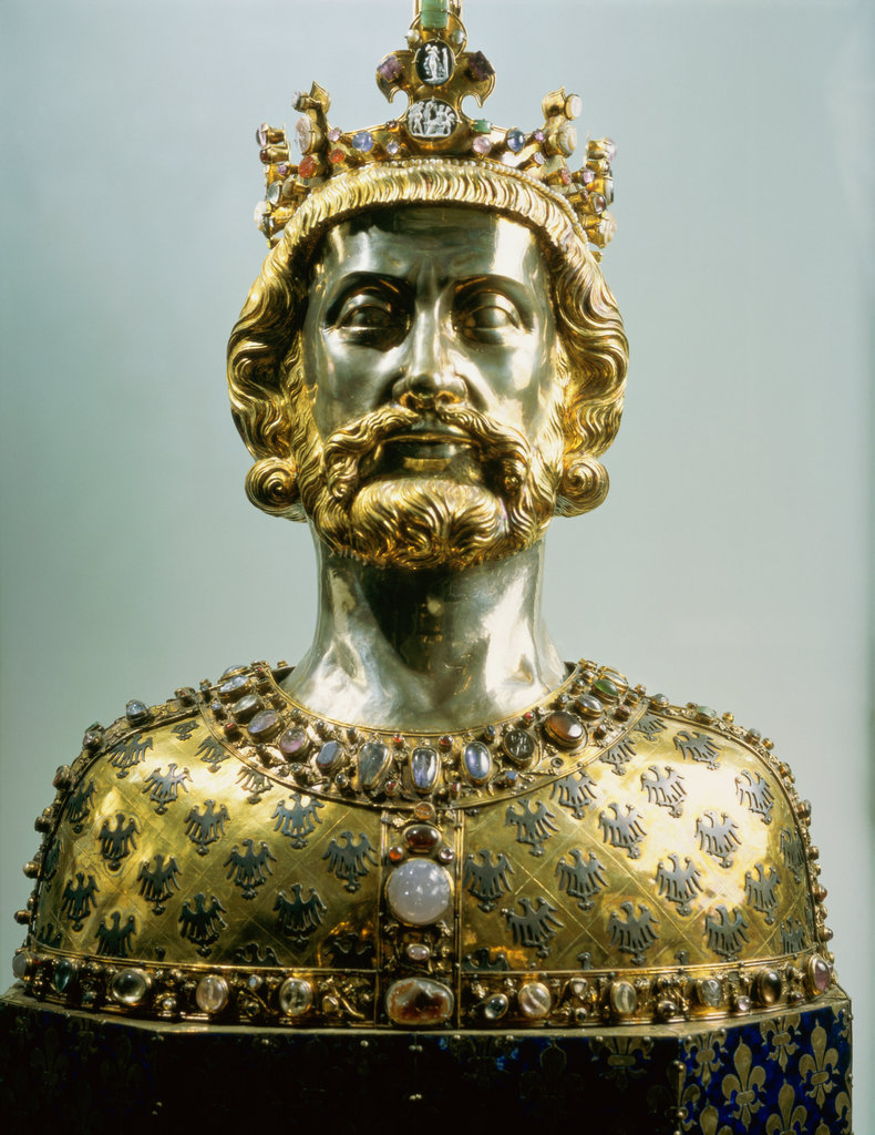 Stock Photo: 862-1032 Reliquary Bust of Charlemange 