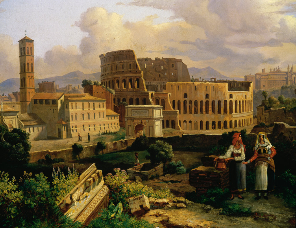 Stock Photo: 862-1035 View of Colosseum, Rome