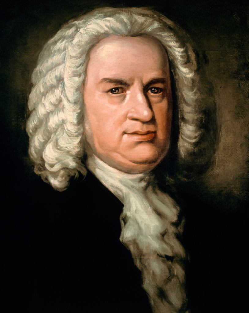 Johann Sebastian Bach  Oil on canvas  Society of Friends of Music, Vienna,  Austria  : Stock Photo