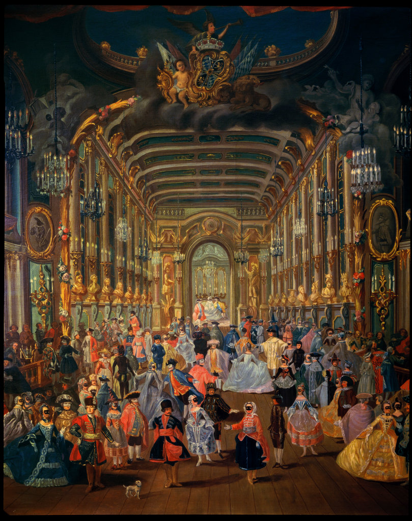 Stock Photo: 862-1054 Masked Ball at the Hoftheater, Bonn, Germany 