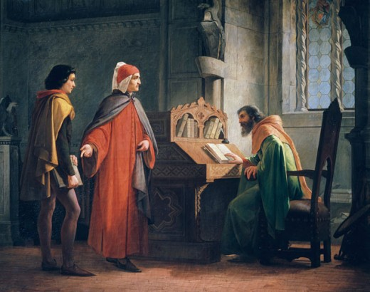 Dante Introduces Giotto To Guido Da Ravenna 