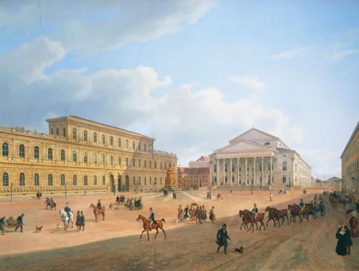 National Theatre Munich Germany, The  1839 Adam, Heinrich(1787-1862 German) Stadtmuseum, Munich, Germany  : Stock Photo