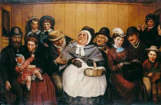 Third Class  Solomon, Abraham(1824-1862 British) London Transport Museum, London, England  : Stock Photo