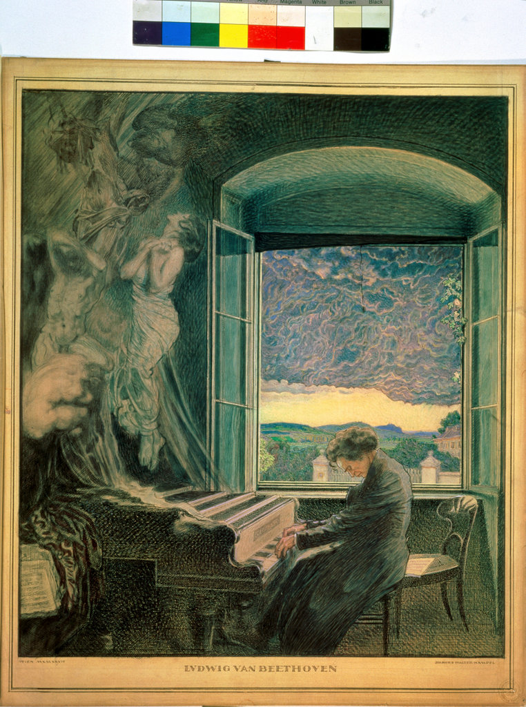 Stock Photo: 862-1103 Allegory of the Genius of Beethoven 