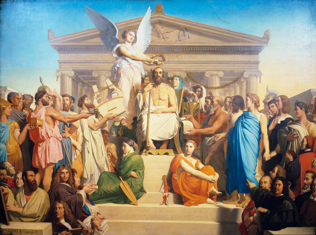 Stock Photo: 862-1132 The Apotheosis Of Homer